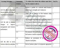 Unit 33 Small Business Enterprise Merit Assignment