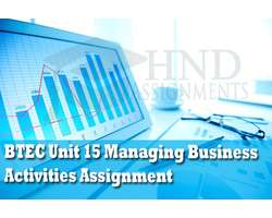 BTEC Unit 15 Managing Business Activities Assignment