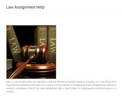 Law Practice Assignment