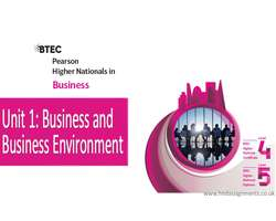 BTEC HND Unit 1 Business Environment