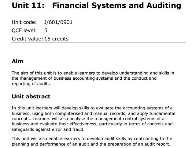 Financial Audit Report