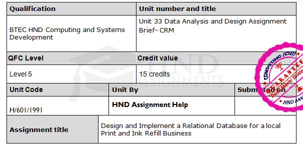 data analysis assignment