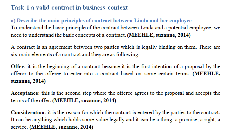 Unit 5 Aspects of Contract and Negligence Sample Assignment – Sample Legal Contract Between Two Parties