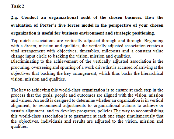 Unit 7 Business Strategy Assignment Sample - HND Assignment
