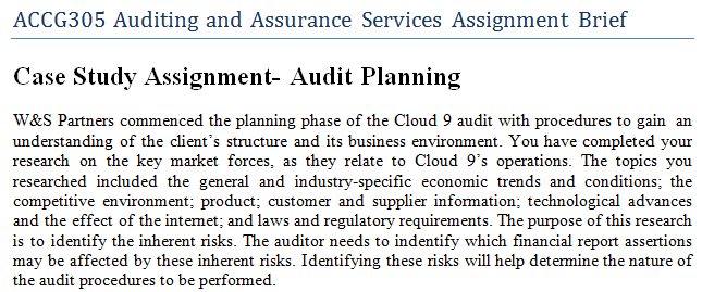 Auditing and assurance services homework solutions