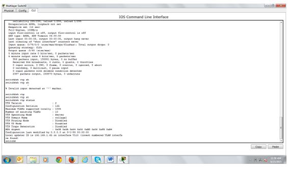 configure VTP  for Unit 44 Local Area Networking Technologies Sample Assignment