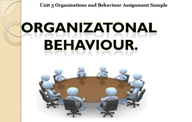 Unit 3 Organisations and Behaviour Assignment Sample