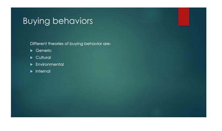 Buyer behavior in terms of individuals and markets 2