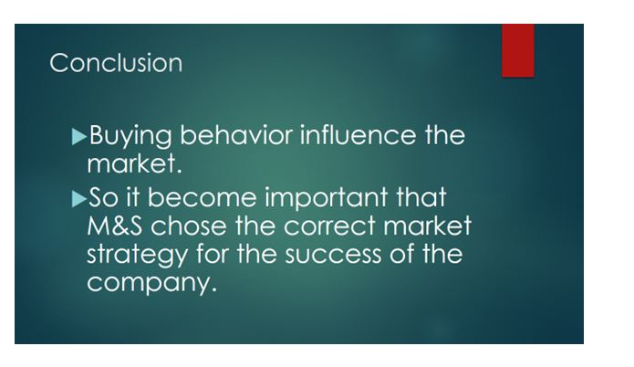 Buyer behavior in terms of individuals and markets 7