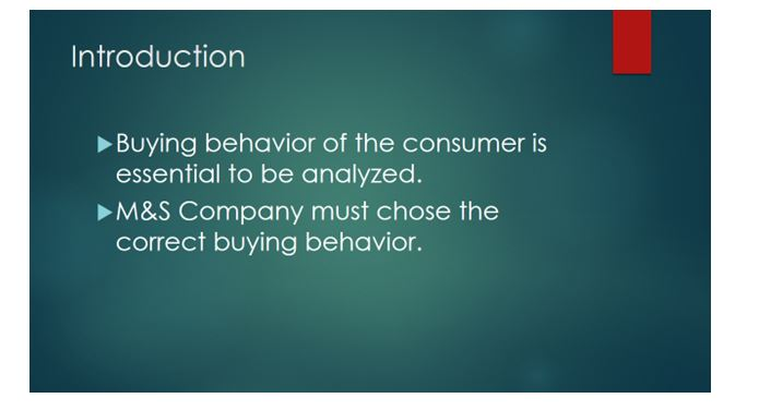Buyer behavior in terms of individuals and markets 1