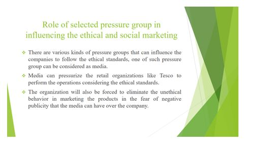 Importance of ethics and social concern responsibility in marketing Slide 8