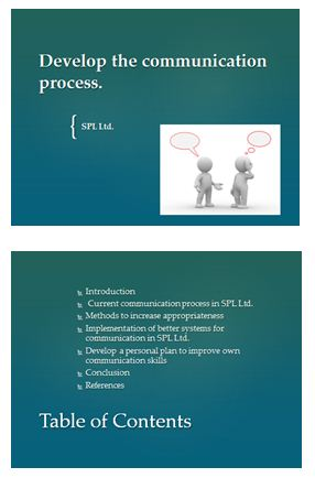 develop the communication process presentation 1