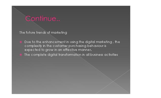 Marketing & its Application Slide 3