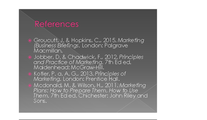 Marketing & its Application Slide 9