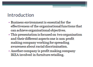 Unit 1 Business Environment Assignment – NHS vs John Lewis