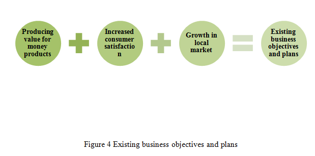 Existing business objectives and plans