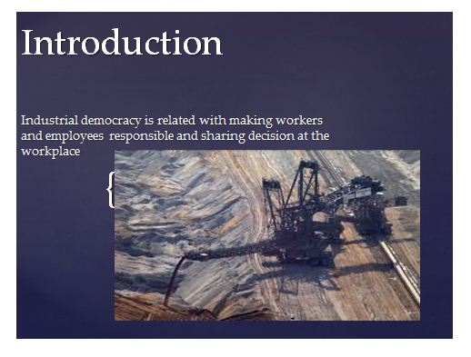 Industrial Democracy Presentation Slide 1