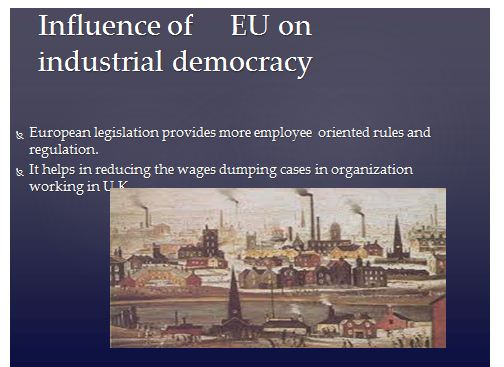 Industrial Democracy Presentation Slide 2
