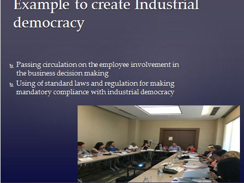 Industrial Democracy Presentation Slide 6
