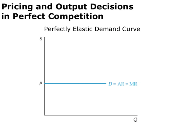 Pricing and output decisions in perfect competition