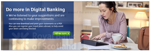 Digital banking by RBS