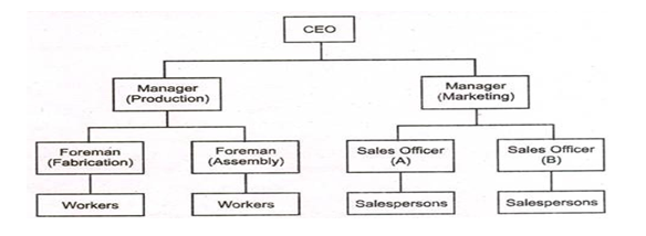 Line organisational structure