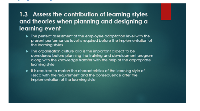 contribution of learning styles slide 1