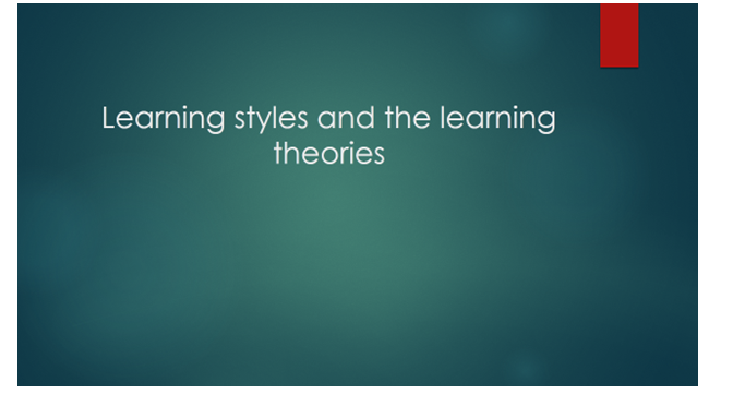 different learning styles slide 1