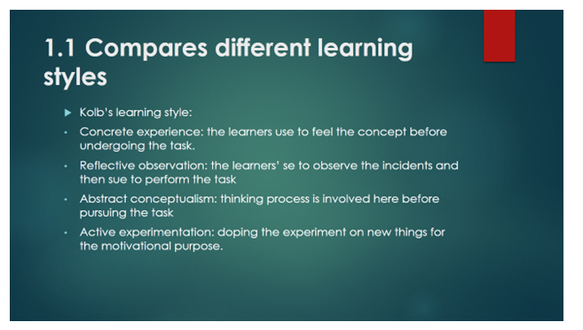 different learning styles slide 3