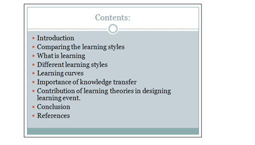 learning styles and their importance slide 1