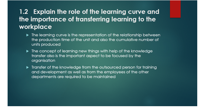 role of the learning curve slide 1, uk assignment writing service