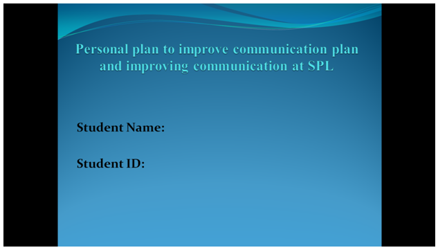 personal plan | HND Assignment Help