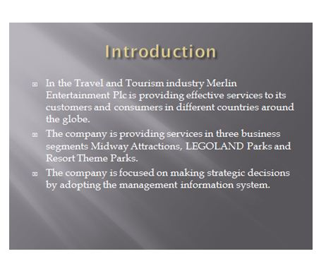 Travel and toursim presentation slide 1, UK Assignment Writing Services