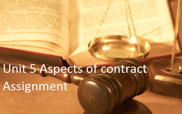 Unit 5 Aspects contract Assignment