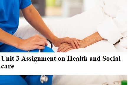 Unit 3 Assignment Health social care