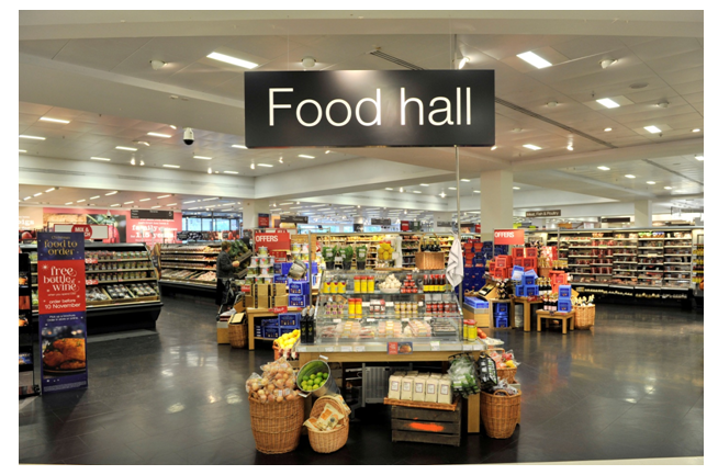 Food section of M&S