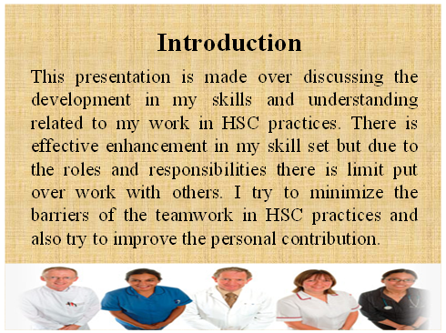 Unit 4 Assignment on Personal and Professional Development in HSC 1