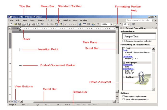 Features of Word Processor