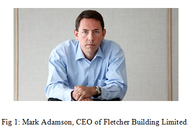 Mark Adamson, CEO of Fletcher Building Limited