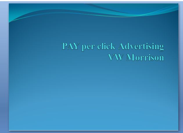 Pay per click advertising VW 1