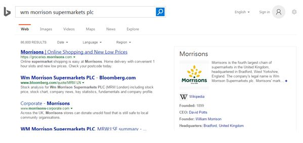 Screenshot for Bing