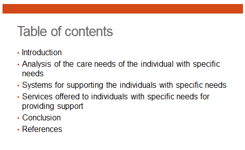 Unit 2 Specific Needs of Health and Social Care Assignment 4