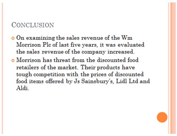 Unit 6 Business Decision Making Assignment WM Morrison Supermarkets 32
