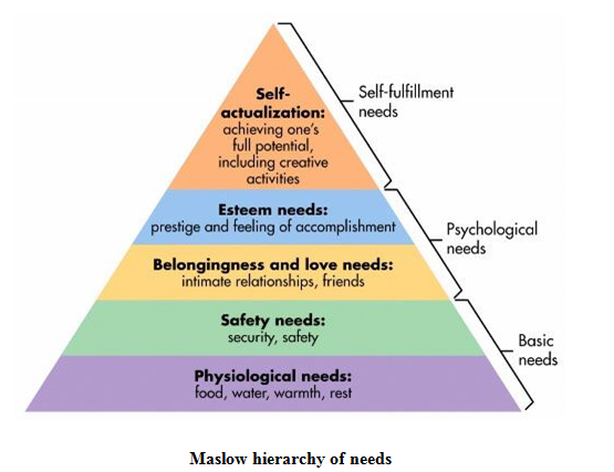 Maslow hierarchy of needs - Assignment Help in Uk