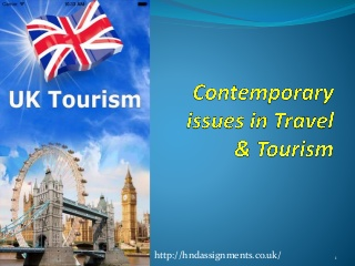 Unit 6 Contemporary Issues in Travel & Tourism Copy Assignment - Assignment Help in UK