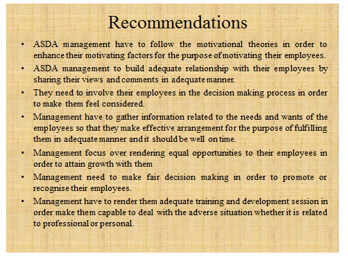ASDA Research project slide 6 - Assignment Help in UK