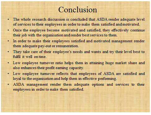 ASDA Research project slide 7 - Assignment Help in UK