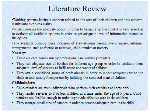 Unit 11 Research Project Child Minders Assignment 23