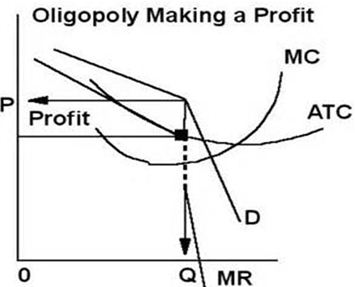Economic profits of Oligopoly using the product