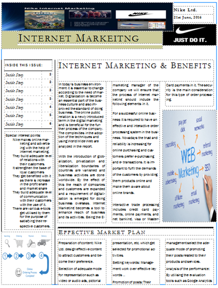 Unit 30 Internet Marketing Assignment 3